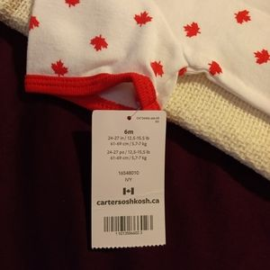 Carter's One Pieces - I Love Canada 6M Baby Onesie
